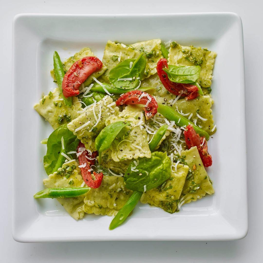 ravioli med spinat og ost