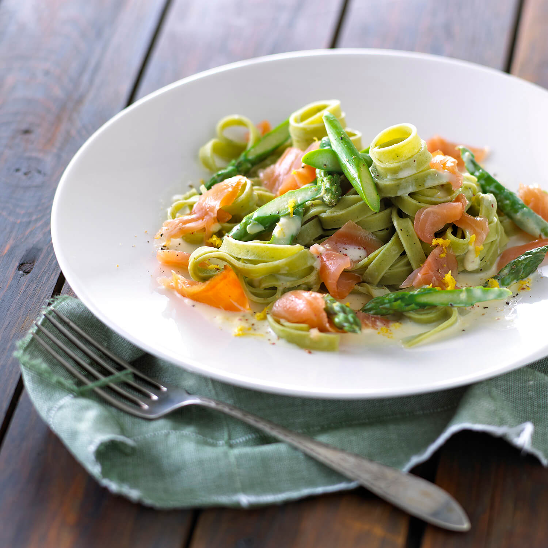 frisk pasta med grøntsager